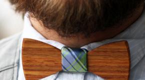 Houten bow-tie