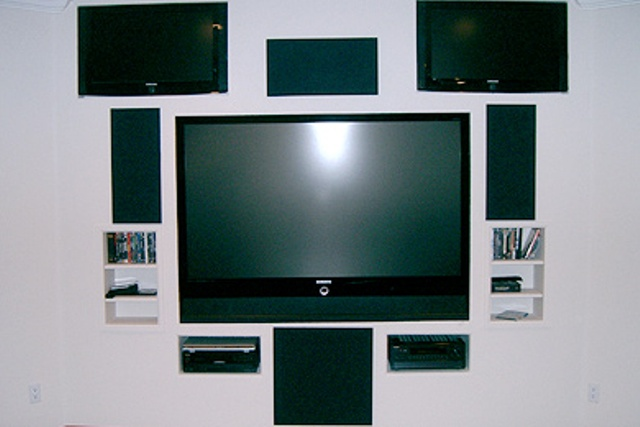 Media wall television