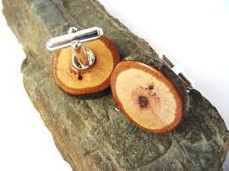 Wood cufflinks etsy