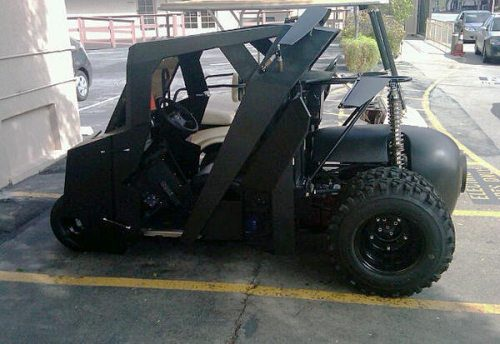 Awesome batmobile golf cart