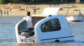Het is een camper! Het is een boot! Het is precies wat ik nodig heb!