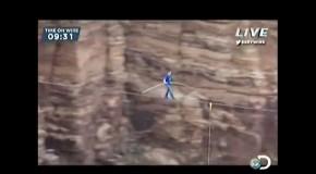 Op een touwtje de Grand Canyon oversteken